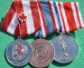 Long Service Medal of Military Collectors Club of Canada, 25 years Service in the Blue Berets Assiciation & the Anniversary Medal of The Danish Defence Brothers Association.