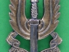 KK 2061. Special Air Service post 1947. Officers silver cap badge. Long lugs 22x41 mm.