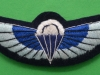 Special Air Service, padded cloth parachute wing current issue. 24x73 mm