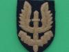 Special Air Service ww2 beret cloth badge. 39x55 mm