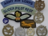 Army Air Corps and Glider Pilot Regiment metal and cloth badges of ww2.