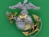 USMC collar badge officers, 36 x 34mm