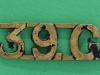39th Garwahl Regiment, ww1 shoulder title, 36 x 12mm