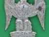 Cox 1228. Royal Scots Greys, NCO Arm badge, silvered, 3 lugs. 39x48 mm.
