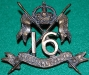 KK 781, Cox 1262, 16th The Queen`s Lancers, bronz, lugs, disc Gaunt