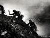 2GR North Africa Gurkhas climbing hill in battle Tunisia 1943