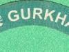 2nd Gurkha Rifles, canvas shoulder title, 130 x 23mm