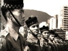Soldiers from the 2nd Gurkha Rifles on parade in Hong Kong in the early 1970s