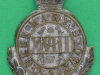 CW34. 18th Royal Hussars Queen Marys Own, post 1911. Collar badge 28x36 mm.