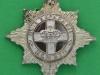 4th/7th Royal Dragoon Guards, officers silver cap badge, 2 parts. 43mm.