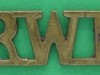 CW968. Royal Welch Fusiliers. Shoulder title  36x14 mm.