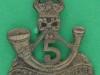 BC488. 5th Battalion Kings African Rifles. Turban badge pin 24x27 mm.