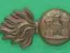 CW193. The Royal Inniskilling Fusiliers collar badge. 21x40 mm.