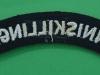 The Royal Inniskilling cloth shoulder title