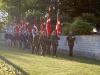 11 fanekommandoer deltog i årets (2013) markering af de udsendtes dag som her ses marchere på plads