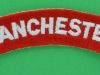 The Manchester Regiment cloth shoulder title. 105x21 mm.