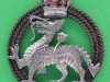 Cox1564. The Royal Berkshire Regiment, officers beret badge.  Silver stamp. Lugs 32x38 mm.