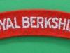 The Royal Berkshire Regiment cloth shoulder title.