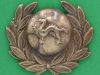 CW213. The Border Regiment post 1884 collar badge without word China. 35x30 mm.