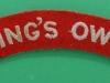 Kings Own Royal Lancaster Regiment cloth shoulder title 120x22 mm.