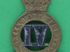 CW17. The 4th Queens Own Hussars post 1906. Collar badge  22x33 mm.