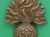 KK 595, Royal Fusiliers, brass, slide. 41 x 51mm.