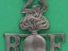 RW800. 23rd Sportsmens Battalion the Royal Fusiliers, City of London Regiment, shoulder title, 41 x 45mm