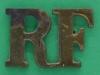 RW792. RF, Royal Fusiliers shoulder title. 26 x 18mm