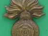 KK 596, The Royal Fusiliers, City of London, small badge with a imperial crown, 33 x 42mm