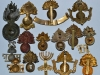 Different badges of the Royal Fusiliers