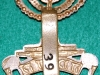 38th, 39th & 40th Battalions. (This badge has apparently been worn by a soldier from 39th battalion as the slider are stamped 39 battalion and next 740 the soldiers number) (Jewish)The Royal Fusiliers No 39740