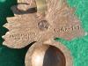 KK 2213, Royal Fusiliers 1942 bakelite badge, 38 x 49mm. A. Stanley & Sons.