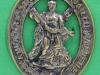 BLO181. Company badge of Queens Edinburgh Rifle Volunteers, The Royal Scots ca 1860. 41x52 mm.