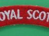 Royal Scots cloth shoulder title