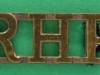 RW1456. Royal Highland Fusiliers shoulder title. 10x27 mm.