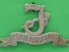 CW260, Seaforth Highlanders collar badge. hvid 43x25 mm.