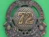 KK 536. 72nd Highlanders, Glengarry 1874-1881. 54x61 mm.