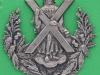 Queens Own Cameron Highlanders, pipers sporran badge. 49 mm.