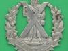 Queens Own Highlanders belt badge, Small flat lugs 55x57 mm.