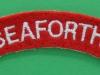 The Seaforth Highlanders cloth shoulder title. 105x22 mm.
