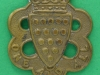 CW206. Duke of Cornwall Light Infantry post 1932 collar badge. 27x31 mm.