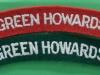 Green Howards cloth shoulder titles.