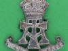 KK 1984. The Green Howards 1950-58. Officers silver cap badge 34x37 mm.
