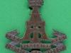 KK 616. Alexandra PWO Yorkshire Regiment, Green Howards 1903-1950. Officers folding blades bronce cap badge. 39x48 mm.
