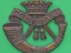 KK 641. Duke of Cornwall Light Infantry. Officers bronce cap badge Gaunt disc.  Lugs47x42 mm.