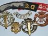 The Duke of Cornwall Light Infantry badges, reverse