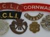 The Duke of Cornwall Light Infantry badges