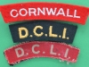 The Duke of Cornwall Light Infantry cloth shoulder titles, three different (1)