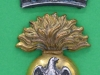CW266. Royal Irish Fusiliers. Two parts collar badge. 25x40 mm.
