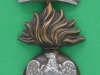 CW266. The Royal Irish Fusiliers, Princess Victorias, cap & collar badge. 25x43 mm.